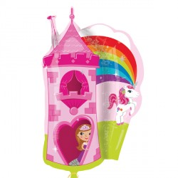 "PRINCESS & UNICORN CASTLE STREET TREAT SHAPE FLAT (18"" x 26"") (10CT)"