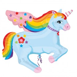 "RAINBOW UNICORN STREET TREAT SHAPE FLAT (28"" x 28"") (10CT)"