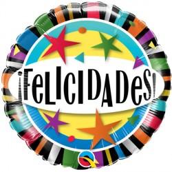 "FELICIDADES STARS 18"" PKT"
