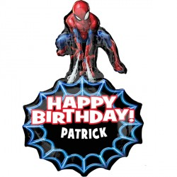 SPIDER-MAN BIRTHDAY PERSONALISED SHAPE P40 PKT