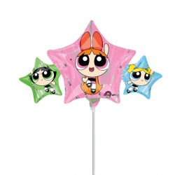 POWERPUFF GIRLS MINI SHAPE A30 INFLATED WITH CUP & STICK