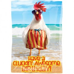 CLUCKIN' AWESOME BIRTHDAY AVANTI  JUNIOR SHAPE S40 PKT