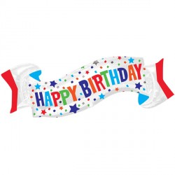 BANNER HAPPY BIRTHDAY SHAPE P35 PKT