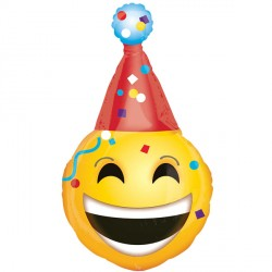 EMOTICON PARTY HAT SHAPE P30 PKT
