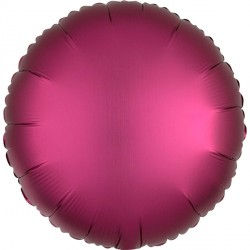 POMEGRANATE SATIN LUXE ROUND STANDARD S15 FLAT A