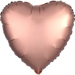 ROSE COPPER SATIN LUXE HEART STANDARD S15 FLAT A