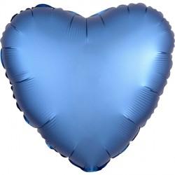 AZURE SATIN LUXE HEART STANDARD S15 FLAT A