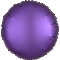 PURPLE ROYALE SATIN LUXE ROUND STANDARD S15 FLAT A