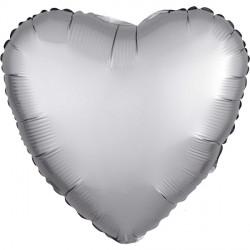 PLATINUM SATIN LUXE HEART STANDARD S15 FLAT A