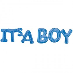 ITS A BOY BLUE BLOCK PHRASE SHAPE G20 PKT