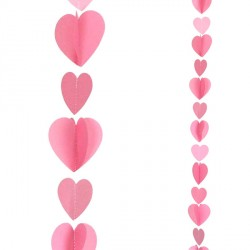 PINK HEARTS 1.2m BALLOON TAILS