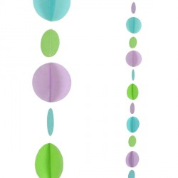 TEAL CIRCLES 1.2m BALLOON TAILS
