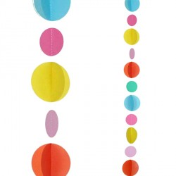 MULTI COLOUR CIRCLES 1.2m BALLOON TAILS