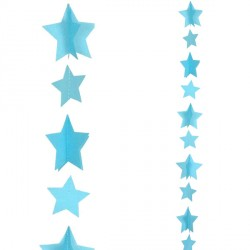 BLUE STARS 1.2m BALLOON TAILS