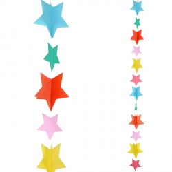 MULTI COLOUR STARS 1.2m BALLOON TAILS