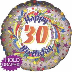 "SPINNING STAR 30TH BIRTHDAY 18"" SALE"