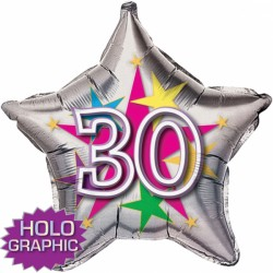 "STELLAR STAR 30TH BIRTHDAY 18"" SALE"