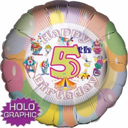 "CLOWNS 5TH BIRTHDAY 18"" SALE"