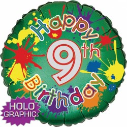 "SPLASHING FUNN 9TH BIRTHDAY 18"" SALE"