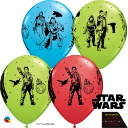 "STAR WARS THE LAST JEDI 11"" RED, ROBINS & LIME (25CT) LBC"