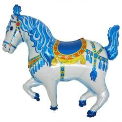 CIRCUS HORSE BLUE VENDOR SHAPE FLAT
