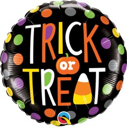 "TRICK OR TREAT DOTS 18"" PKT"