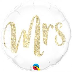 """GLITTER GOLD MRS. 18"""" PKT"""