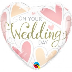"ON YOUR WEDDING DAY HEARTS 18"" PKT"