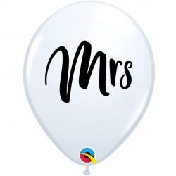 "MRS. 11"" WHITE (25CT) LAC"