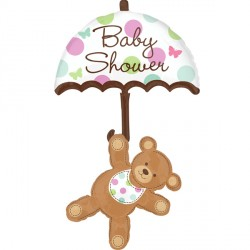 BABY SHOWER UMBRELLA & BEAR SHAPE P75 PKT