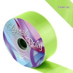 "LIME GREEN 2"" ELEGANZA POLY RIBBON 91M"