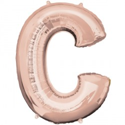 ROSE GOLD LETTER C SHAPE P50 PKT
