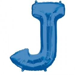 BLUE LETTER J SHAPE P50 PKT (5CT)