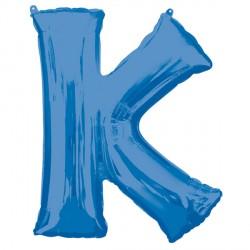 BLUE LETTER K SHAPE P50 PKT (5CT)