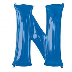 BLUE LETTER N SHAPE P50 PKT (5CT)