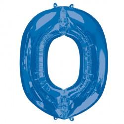 BLUE LETTER O SHAPE P50 PKT (5CT)