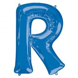 BLUE LETTER R SHAPE P50 PKT (5CT)