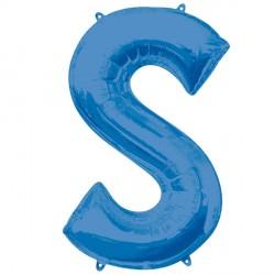 BLUE LETTER S SHAPE P50 PKT (5CT)