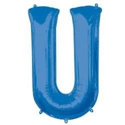 BLUE LETTER U SHAPE P50 PKT (5CT)
