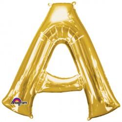 """GOLD LETTER A 16"""" SHAPE A04 PKT (5CT)"""