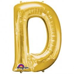 """GOLD LETTER D 16"""" SHAPE A04 PKT (5CT)"""