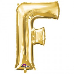"""GOLD LETTER F 16"""" SHAPE A04 PKT (5CT)"""