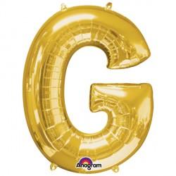 "GOLD LETTER G 16"" SHAPE A04 PKT (5CT)"