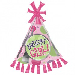 BIRTHDAY GIRL PARTY HAT SHAPE SALE