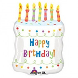 BIG WHITE BIRTHDAY CAKE SHAPE SALE