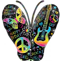 NEON BUTTERFLY BIRTHDAY SHAPE SALE