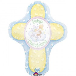 PRECIOUS MOMENTS CHRISTENING CROSS SHAPE SALE
