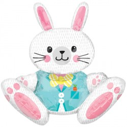 SITTING BUNNY LARGE MULTI BALLOON P55 PKT