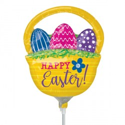 BASKET WITH EGGS EASTER MINI SHAPE A30 INFLATED WITH CUP & STICK