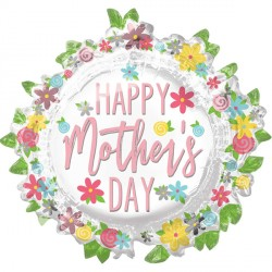 WREATH HAPPY MOTHER'S DAY SHAPE P35 PKT